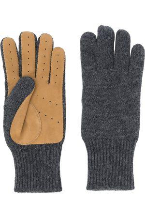 Brunello Cucinelli Panelled knitted gloves - Grey