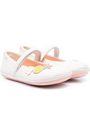 Camper Twins sea shell touch-strap flats - Neutrals