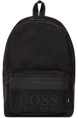 HUGO BOSS Embossed Logo Nylon Backpack