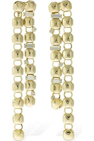 ROSANTICA Women Earrings - Bottone Crystal Double Pendant Earrings