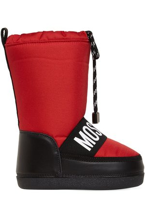 Moschino Logo Print Nylon Snow Boots