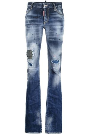 Dsquared2 Distressed-effect bootcut jeans