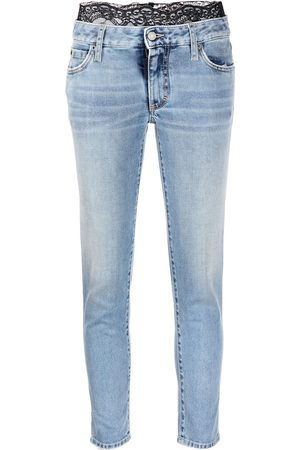 Dsquared2 Lace-detail cropped skinny jeans