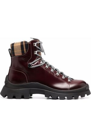 Dsquared2 Lace-up leather-blend boots