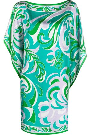 Emilio Pucci Women Beach Dresses - Albizia-print silk kaftan