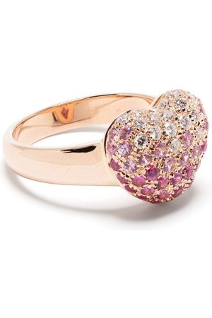 LEO PIZZO 18kt rose gold diamond sapphire Amore ring