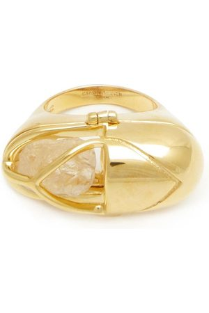 CAPSULE ELEVEN Crystal and black tourmaline capsule ring