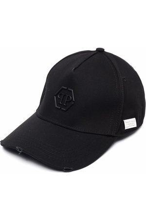 Philipp Plein Caps - Hexagon logo distressed cap