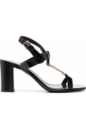 Saint Laurent Cassandra logo 75mm sandals