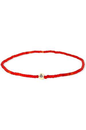 Luis Morais 14kt yellow and diamond charm beaded bracelet