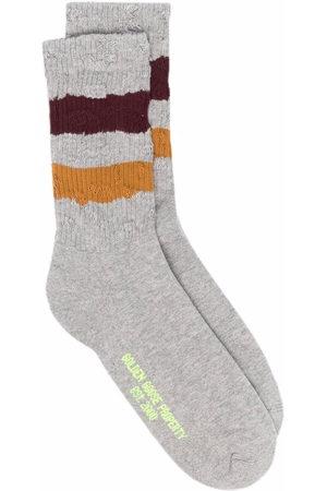 Golden Goose Socks - Stripe trim socks - Grey