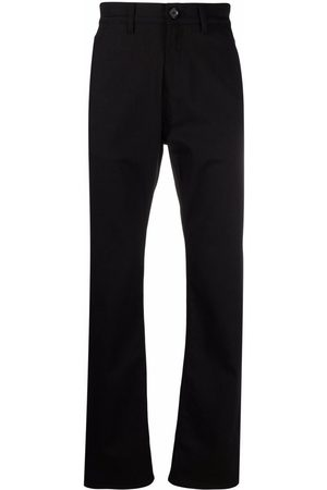 Alexander McQueen Men Straight - Logo-embroidered straight-leg jeans