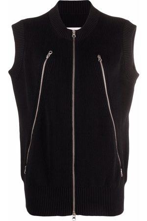 MM6 Maison Margiela Long-zip sleeveless knitted vest