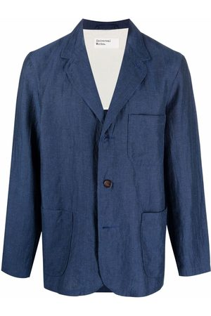 Universal Works Crease-effect single-breasted blazer
