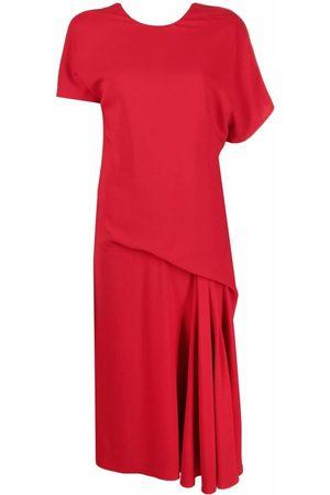 Versace Draped asymmetric midi dress