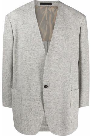 Fear Of God Single-breasted V-neck blazer - Grey