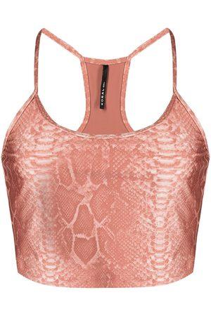Koral Snakeskin-print sports bra