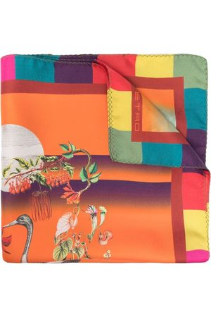 Etro Bird-print scarf