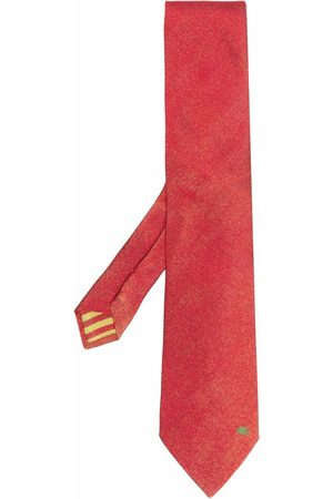 Etro Embroidered-logo tie