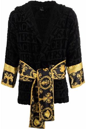 VERSACE Barocco-print cotton robe