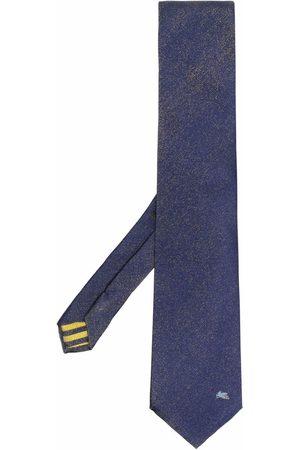 Etro Men Bow Ties - Embroidered-logo tie