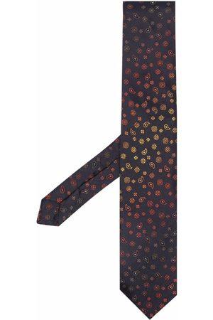 Etro Men Bow Ties - Floral paisley silk tie
