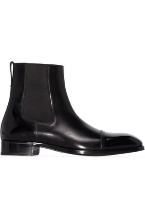 TOM FORD Men Chelsea Boots - Elkan leather Chelsea boots