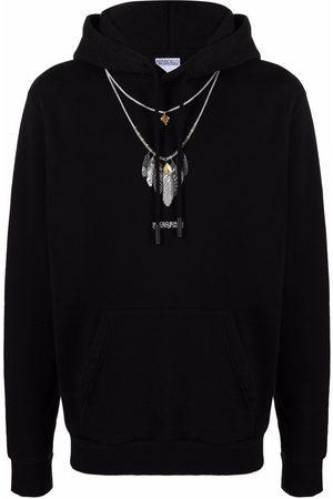 MARCELO BURLON Feather-print hoodie