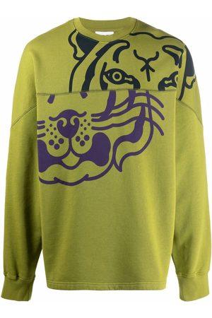 Kenzo Tiger-print panelled sweatshirt