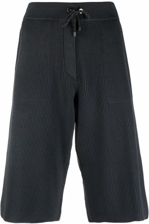 Brunello Cucinelli Women Leggings - Cropped ribbed-knit trousers - Grey
