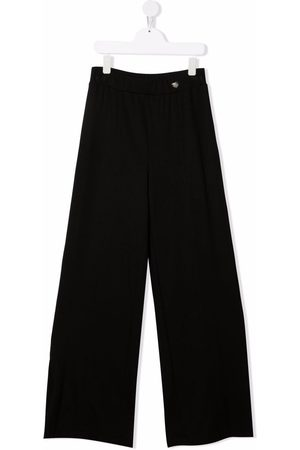 MONNALISA TEEN wide-leg slip-on trousers