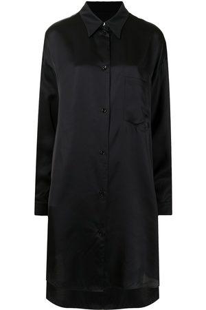 MM6 Maison Margiela Satin-finish shirt dress