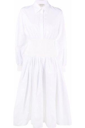 Alexander McQueen Women Casual Dresses - Knitted insert shirt dress