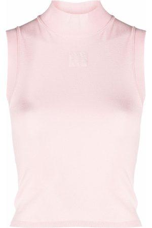 alexanderwang.t Women Tank Tops - High-neck sleeveless top