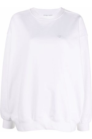 adidas Logo-embroidered cotton sweatshirt