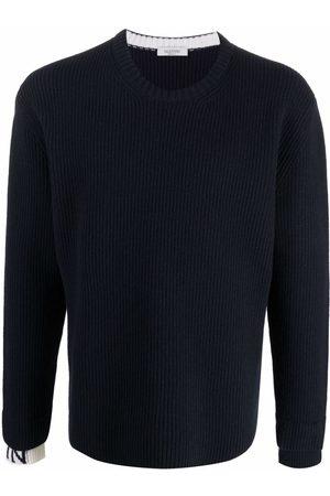 VALENTINO Long-sleeve ribbed-knit jumper