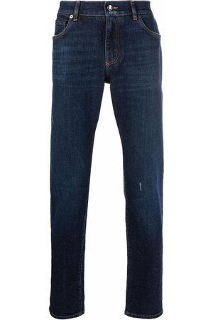 Dolce & Gabbana Ripped-detail denim jeans