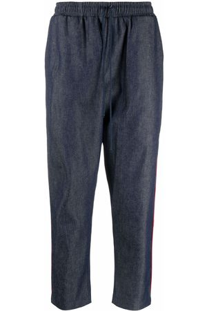 Alchemy Tapered-leg cropped relaxed trousers