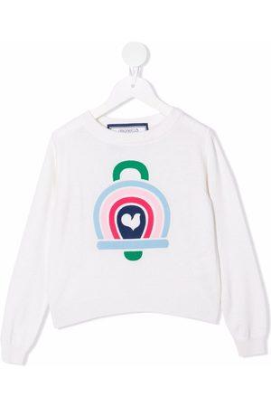 Simonetta Graphic-print crewneck jumper