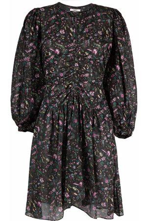 Isabel Marant Floral-print gathered waist dress