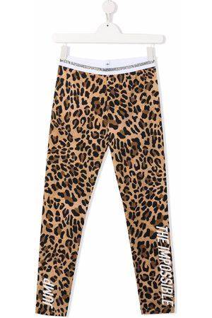 Dsquared2 Kids Girls Leggings - TEEN leopard print leggings