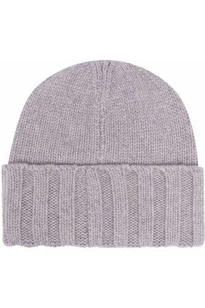 Emporio Armani Cashmere beanie hat - Grey