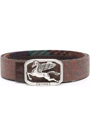 Etro Men Belts - Logo-buckle belt
