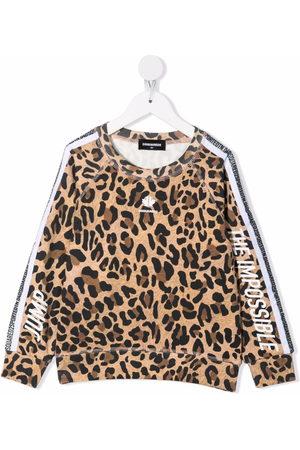 Dsquared2 Kids Logo leopard print sweatshirt