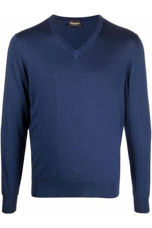 DRUMOHR Men Sweatshirts - V-neck fine-knit jumper