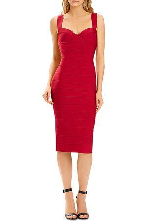 Hervé Léger Women Midi Dresses - X Julia Restoin Roitfeld Sweetheart Bandage Midi Dress