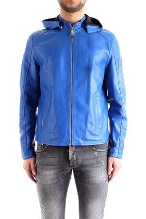 PACIOTTI 4US Leather jackets Men Royal