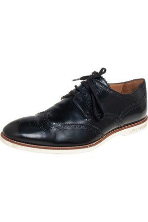 LOUIS VUITTON Brogue Leather Lace Up Derby Size 43