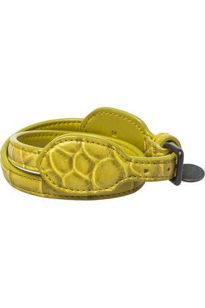 Bottega Veneta Crocodile Double Wrap Around Bracelet M