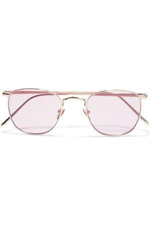 LINDA FARROW Women Square - Woman Simon Square-frame -tone Sunglasses Size